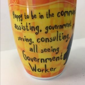"Fine Porcelain Coffee Tea Mug ""Government Worker"""